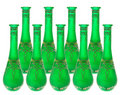Green Glass Vases Royalty Free Stock Photo