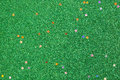 Green glitter background with small stars Royalty Free Stock Photo