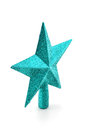 green glittering star shaped Christmas and new year ornament Royalty Free Stock Photo