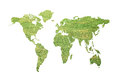 Green global map Stock Photos