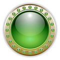 Green Glossy Vector Button Illustration Royalty Free Stock Photo