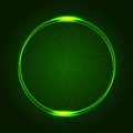 Green Glowing Rings on Dark Dotted Abstract Royalty Free Stock Photo