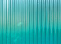 Green goffered metal texture, corrugated steel surface Royalty Free Stock Photo