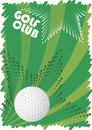 Green golf motive abstract vector illustration Royalty Free Stock Photography