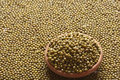 Green gram or Moong Dal Royalty Free Stock Photo