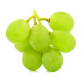 Green  grape  bunch  isolated on white background cutout Royalty Free Stock Photo