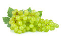 Green grape isolated on the white background