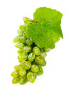 Green grapes isolated on white background Royalty Free Stock Photography