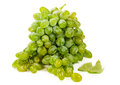 Green grapes over white isolated on background Stock Image