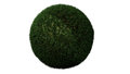 Green grass ball made in d software Royalty Free Stock Photography