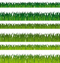Green grass banners Stock Image