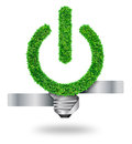 Green grass bulb as symbol Royalty Free Stock Image