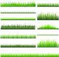 Green grass collection Royalty Free Stock Photo