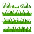 Green grass constructor on white vector illustration Stock Images