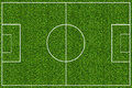 Green grass field for soccer empty sport Stock Photo