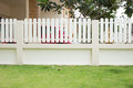 Green grass lawn in the backyard with fence Royalty Free Stock Photos