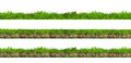 Green Grass Sections Royalty Free Stock Photography