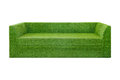 Green grass sofa on white background Stock Photo