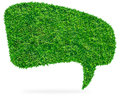 Green grass Speech Bubble Royalty Free Stock Images