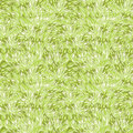 Green grass texture seamless pattern background vector with hand painted elements Stock Photos