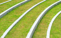 Green grass and white line with space Stock Photos