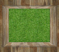 Green grass in wood box stock photo Royalty Free Stock Photos