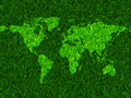 Green grass world map vector Stock Image