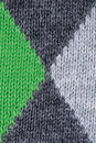 Green and gray woolen decorative fabric texture background, close up Royalty Free Stock Photo