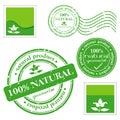 Green grunge rubber stamp