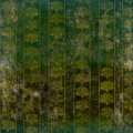 Green grunge wallpaper with floral retro pattern Stock Photography