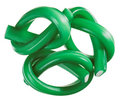 Green gummy candy (licorice) rope set Royalty Free Stock Photo