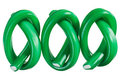 Green gummy candy (licorice) rope set Stock Image