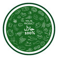 Green halal products banner design