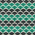 Green half circle seamless pattern Royalty Free Stock Photo