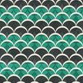 Green half circle seamless pattern Royalty Free Stock Photo