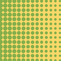 Green Halftone circles background, halftone dot pattern.