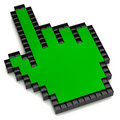 Green hand cursor Royalty Free Stock Photo