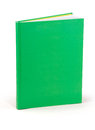 Green hardcover book blank clipping path at all sizes Stock Image