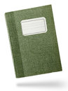 Green hardcover notebook front isolated on white Royalty Free Stock Image