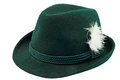 Green hat with a feather Royalty Free Stock Photo