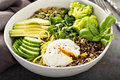 Green and healthy grain bowl Royalty Free Stock Photo