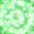 Green Heart Bokeh, pattern,
