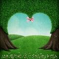 Green heart tree Royalty Free Stock Photo