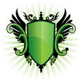 Green Herald Crest Royalty Free Stock Photo