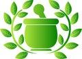 Green herbal logo