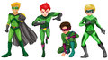 Green heroes illustration of the on a white background Royalty Free Stock Photos