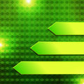 Green hexagon banner arrow in background Stock Photography
