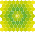 Green Hexagons Calendar 2011 Stock Photo