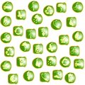 Green High-gloss eco buttons Royalty Free Stock Photo