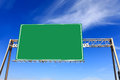 Green highway sign Royalty Free Stock Photo